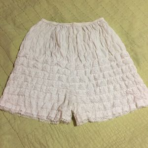 Other - Vintage white ruffled bloomers